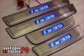 Накладки на пороги Hyundai ix35 с подсветкойJMT-012L