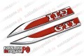 Шильдики на крылья VW GTI (красные)VIS-KE013