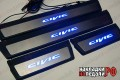 Накладки на пороги Civic IX с подсветкой (под оригинал)