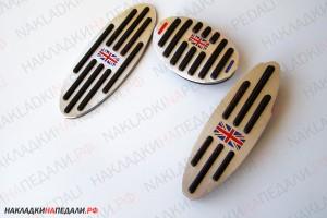 Накладки на педали Mini АКПП (флаг Великобритании)