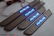 Накладки на пороги RAV4 (2006 - 2012) с подсветкой
