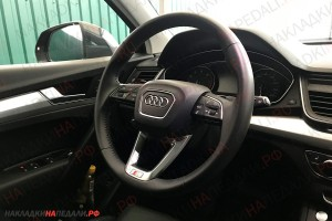 Накладка S-Line для руля Audi Q5 FY (оригинал)
