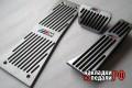 Накладки на педали BMW ///M X5 X6 F серии (серебро)AP-CL126F